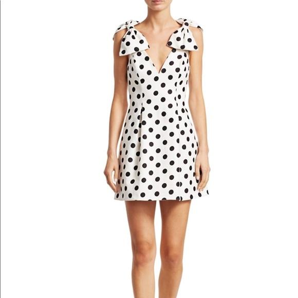d172458941c7 Zimmermann Dresses | Corsage Polka Dot Bow Shoulder Dress | Poshmark